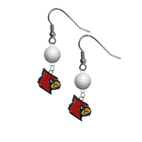 Louisville Cardinals NCAA Volleyball Dangle Earrings