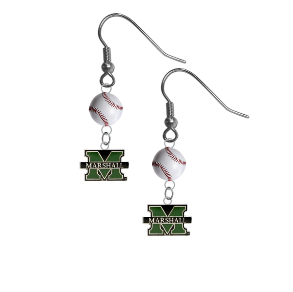 Marshall Thundering Herd NCAA Baseball Dangle Earrings