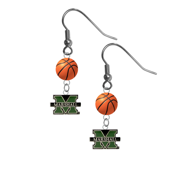 Marshall Thundering Herd NCAA Basketball Dangle Earrings