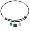Marshall Thundering Herd BLACK Color Edition Expandable Wire Bangle Charm Bracelet