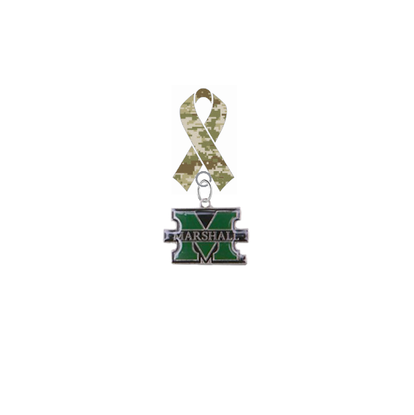 Marshall Thundering Herd Salute to Service Military Appreciation Camo Ribbon Lapel Pin