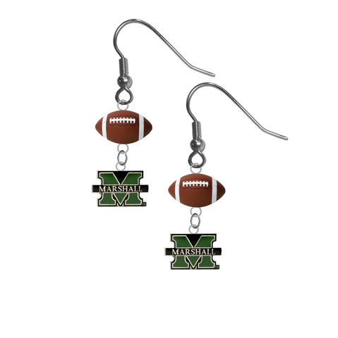 Marshall Thundering Herd NCAA Football Dangle Earrings