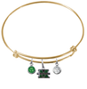 Marshall Thundering Herd GOLD Color Edition Expandable Wire Bangle Charm Bracelet