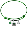 Marshall Thundering Herd GREEN Color Edition Expandable Wire Bangle Charm Bracelet