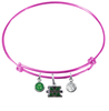 Marshall Thundering Herd PINK Color Edition Expandable Wire Bangle Charm Bracelet