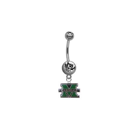 Marshall Thundering Herd SILVER College Belly Button Navel Ring