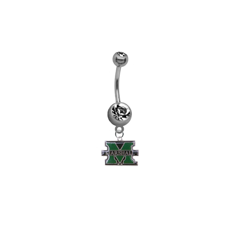 Marshall Thundering Herd NCAA College Belly Button Navel Ring