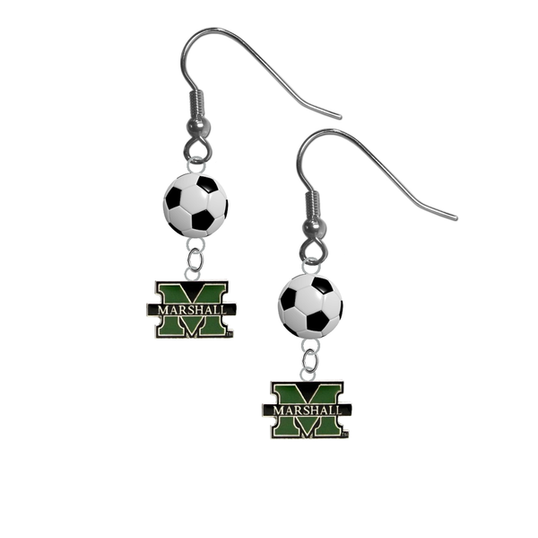 Marshall Thundering Herd NCAA Soccer Dangle Earrings