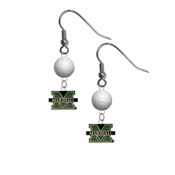 Marshall Thundering Herd NCAA Volleyball Dangle Earrings