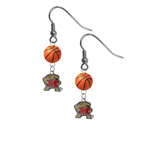 Maryland Terrapins NCAA Basketball Dangle Earrings