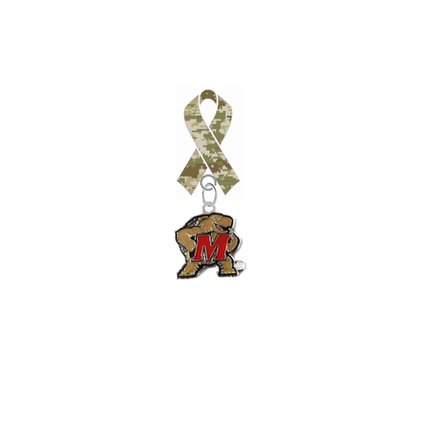 Maryland Terrapins Salute to Service Military Appreciation Camo Ribbon Lapel Pin