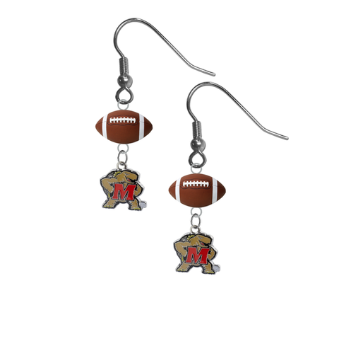Maryland Terrapins NCAA Football Dangle Earrings
