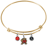 Maryland Terrapins GOLD Color Edition Expandable Wire Bangle Charm Bracelet