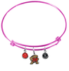 Maryland Terrapins PINK Color Edition Expandable Wire Bangle Charm Bracelet