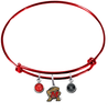 Maryland Terrapins RED Color Edition Expandable Wire Bangle Charm Bracelet