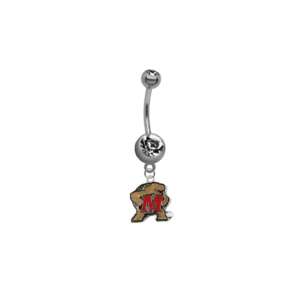 Maryland Terrapins NCAA College Belly Button Navel Ring