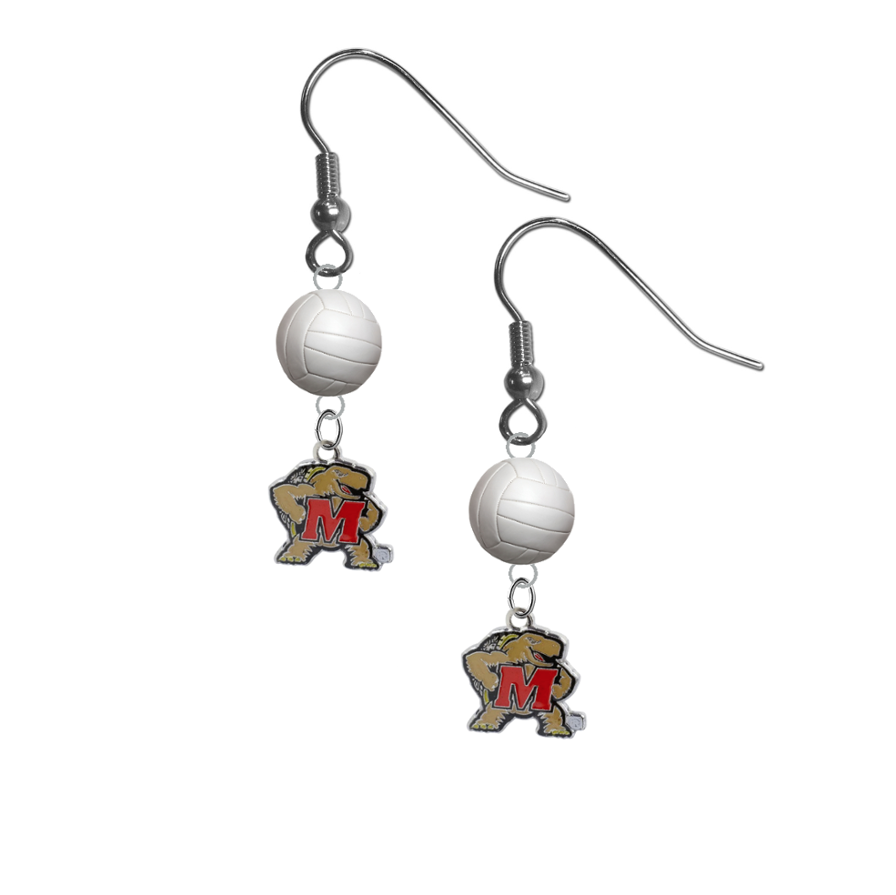 Maryland Terrapins NCAA Volleyball Dangle Earrings