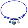 Memphis Grizzlies BLUE Color Edition Expandable Wire Bangle Charm Bracelet