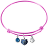 Memphis Grizzlies PINK Color Edition Expandable Wire Bangle Charm Bracelet