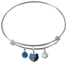Memphis Grizzlies NBA Expandable Wire Bangle Charm Bracelet