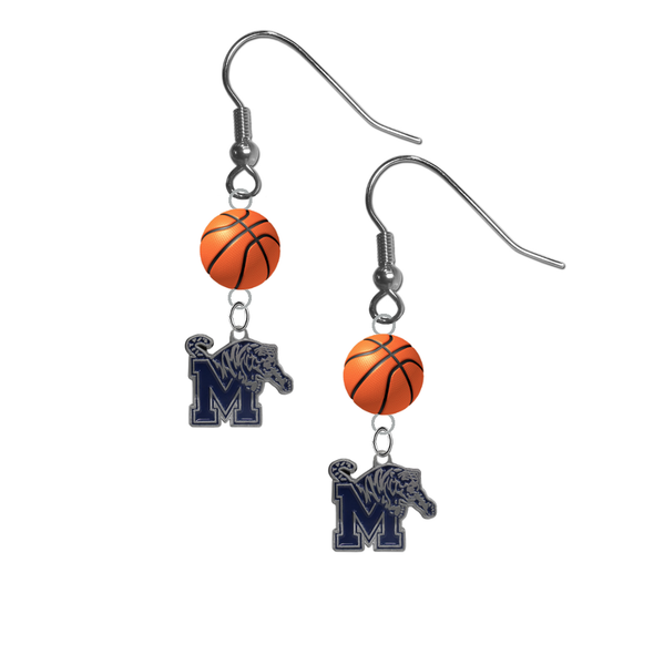 Memphis Tigers NCAA Basketball Dangle Earrings