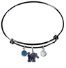 Memphis Tigers BLACK Expandable Wire Bangle Charm Bracelet