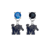 Memphis Tigers BLUE & BLACK Swarovski Crystal Stud Rhinestone Earrings
