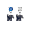 Memphis Tigers BLUE & CLEAR Swarovski Crystal Stud Rhinestone Earrings