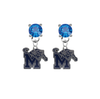 Memphis Tigers BLUE Swarovski Crystal Stud Rhinestone Earrings