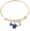 Memphis Tigers GOLD Expandable Wire Bangle Charm Bracelet