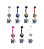 Memphis Tigers NCAA College Belly Button Navel Ring - Pick Your Color