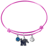 Memphis Tigers PINK Expandable Wire Bangle Charm Bracelet