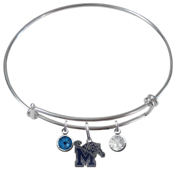 Memphis Tigers NCAA Expandable Wire Bangle Charm Bracelet