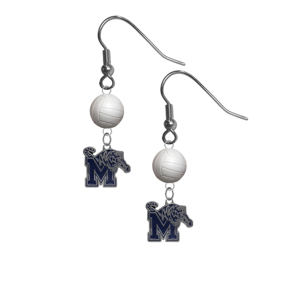 Memphis Tigers NCAA Volleyball Dangle Earrings