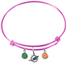 Miami Dolphins Pink NFL Expandable Wire Bangle Charm Bracelet