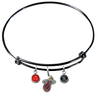 Miami Heat BLACK Color Edition Expandable Wire Bangle Charm Bracelet