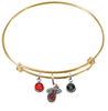 Miami Heat GOLD Color Edition Expandable Wire Bangle Charm Bracelet