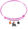 Miami Marlins Pink MLB Expandable Wire Bangle Charm Bracelet