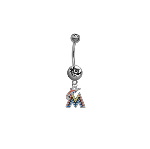Miami Marlins MLB Baseball Belly Button Navel Ring