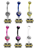 Michigan Wolverines NCAA College Belly Button Navel Ring - Pick Your Color