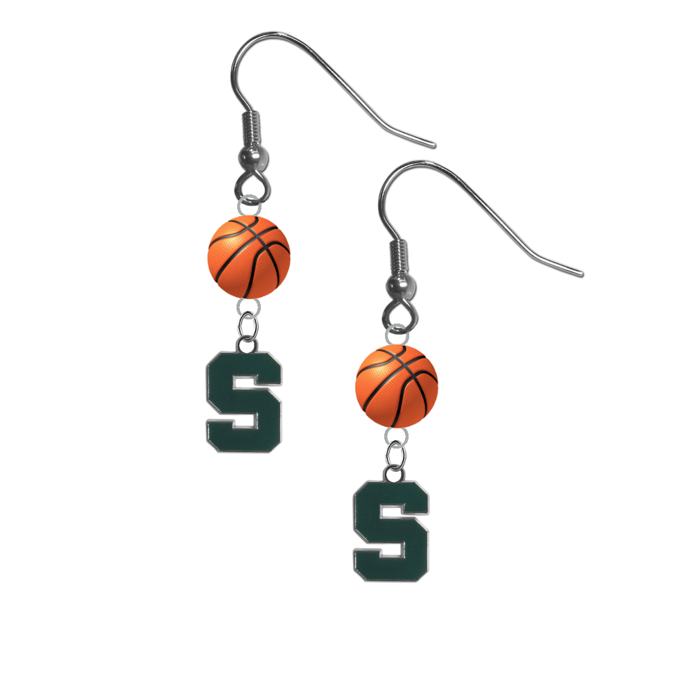 Michigan State Spartans NCAA Basketball Dangle Earrings