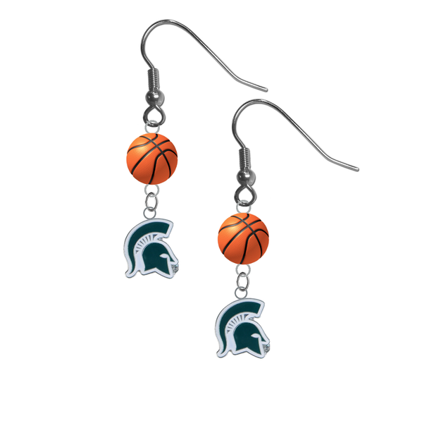 Michigan State Spartans Mascot NCAA Basketball Dangle Earrings