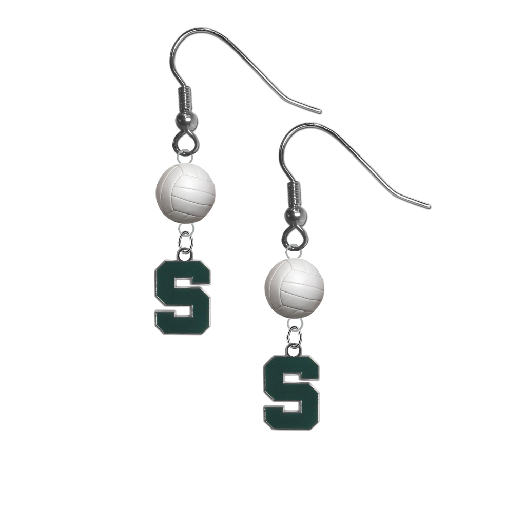 Michigan State Spartans NCAA Volleyball Dangle Earrings