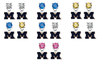 Michigan Wolverines 2 NCAA Swarovski Crystal Stud Rhinestone Earrings