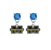 Michigan Wolverines BLUE Swarovski Crystal Stud Rhinestone Earrings