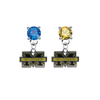Michigan Wolverines BLUE & GOLD Swarovski Crystal Stud Rhinestone Earrings