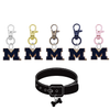 Michigan Wolverines 2 NCAA Pet Tag Dog Cat Collar Charm