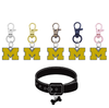 Michigan Wolverines 3 NCAA Pet Tag Dog Cat Collar Charm
