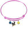 Milwaukee Brewers Pink MLB Expandable Wire Bangle Charm Bracelet