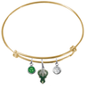 Milwaukee Bucks GOLD Color Edition Expandable Wire Bangle Charm Bracelet